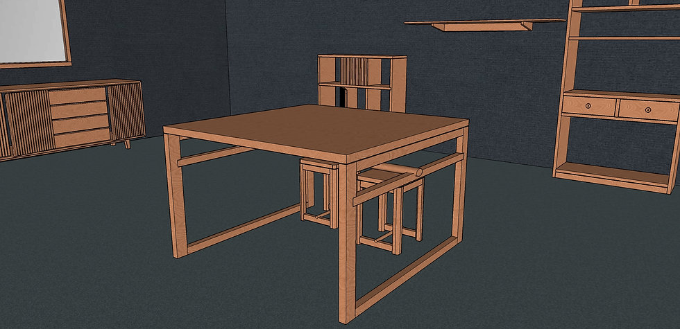 Square Dining Table No. 4