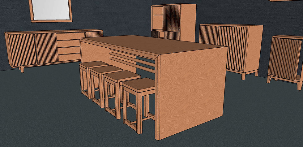 Waterfall Dining Table No. 1-2