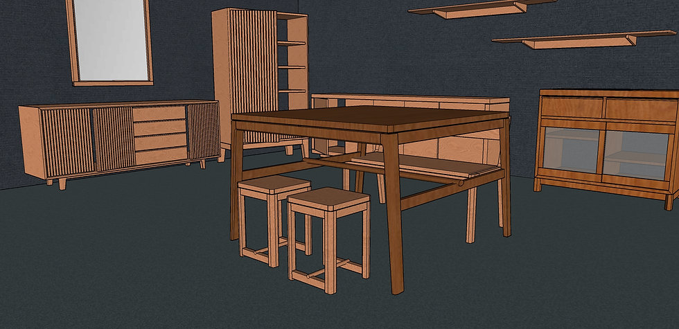 Square Dining Table No. 2