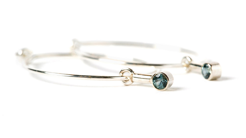 MONTANA BLUE-GREEN SAPPHIRE EARRINGS