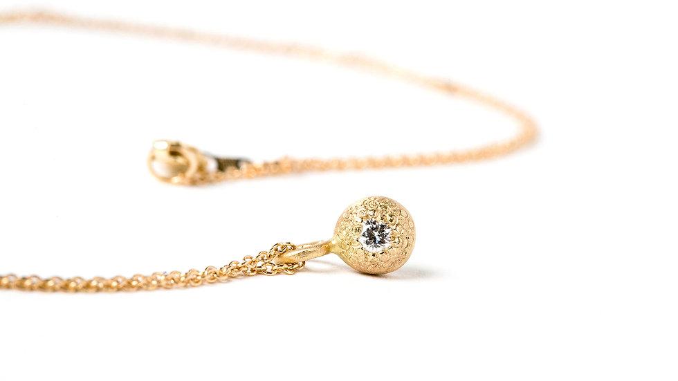 14K GOLD DIAMOND BUBBLE PENDANT