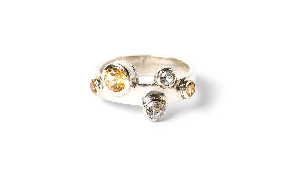 Gemstone Bubble Ring