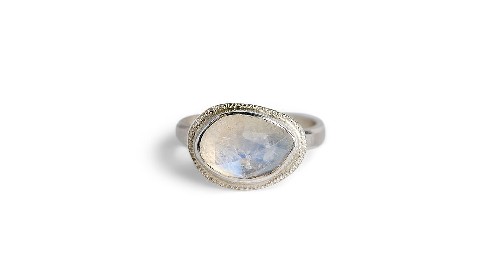 Horizontal Moonstone Ring