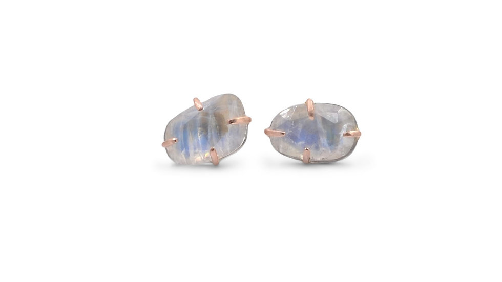 Magical Moonstone Stud Earrings