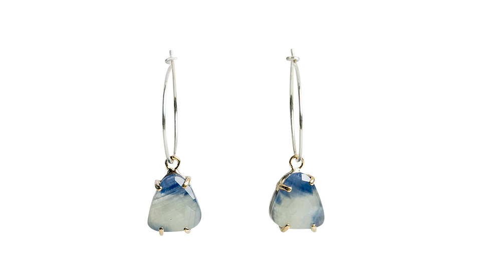 Trillion Bi-Color Sapphire Earrings