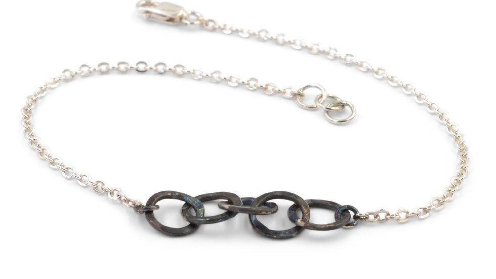 Patina Circle Link Bracelet