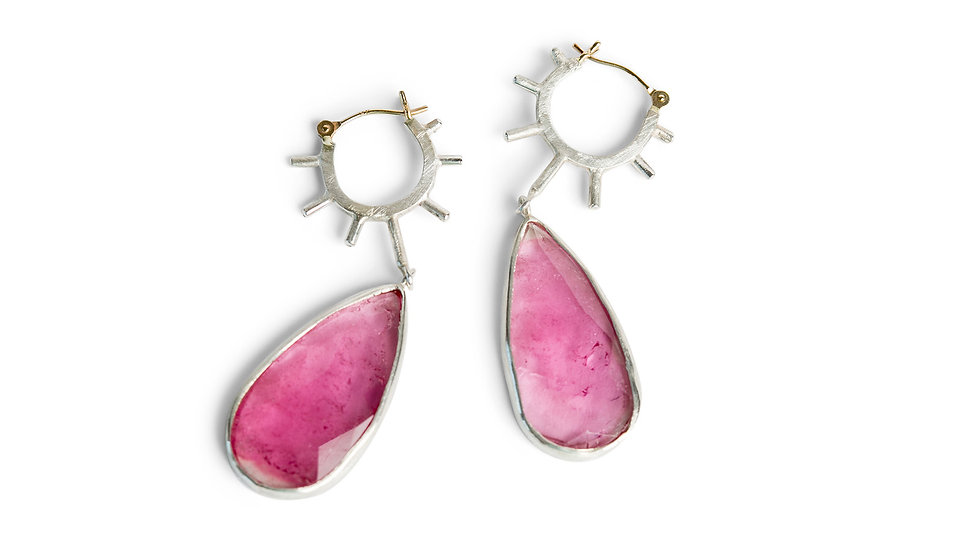 Pink Tourmaline Hello Sunshine Earring