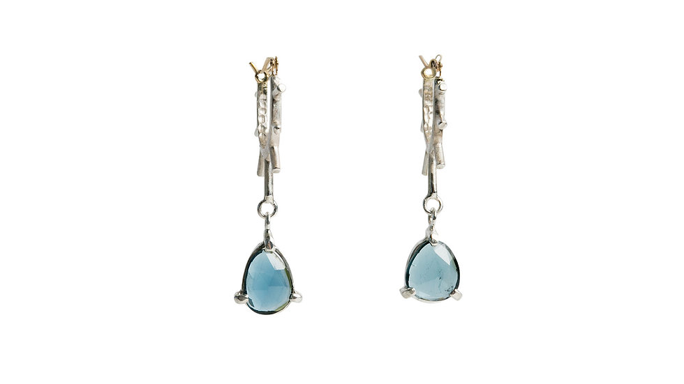 Blue-Green Tourmaline Hello Sunshine Earrings