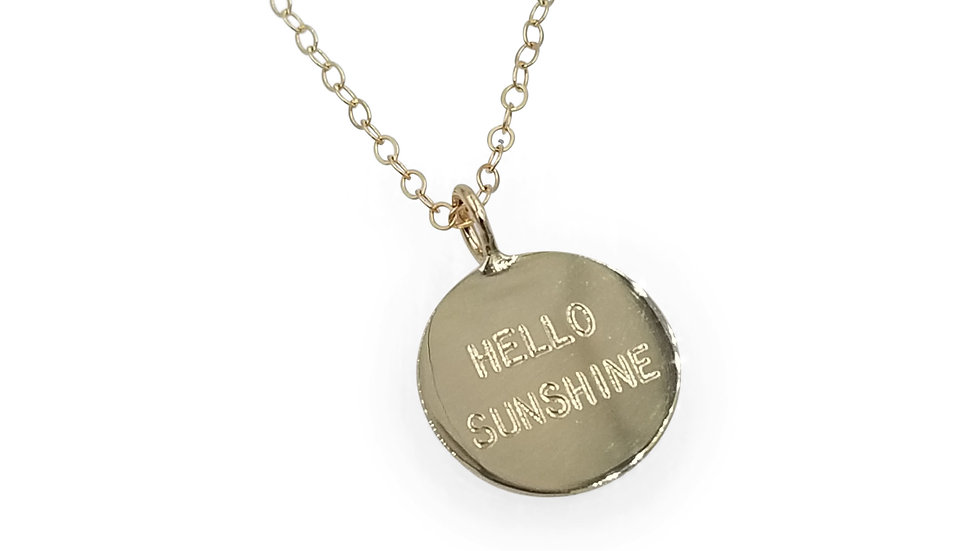 Hello Sunshine Pendant in Gold