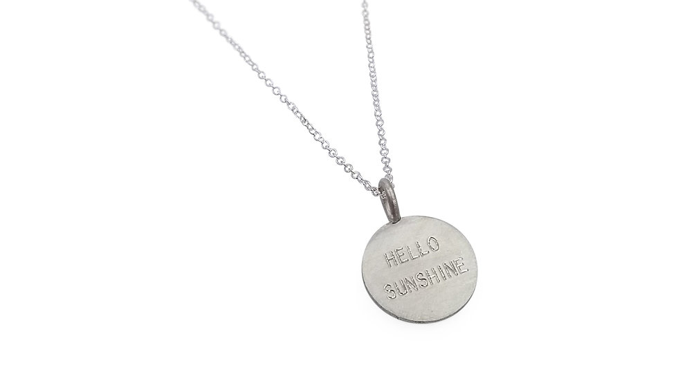 Hello Sunshine Pendant in Sterling Silver