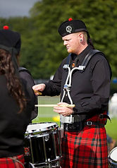 Ethan Dubois drummer Worcster Kiltie Pipe Band bapipes