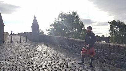 Stirling Bridg Scotland bagpiper PJ Shorrock