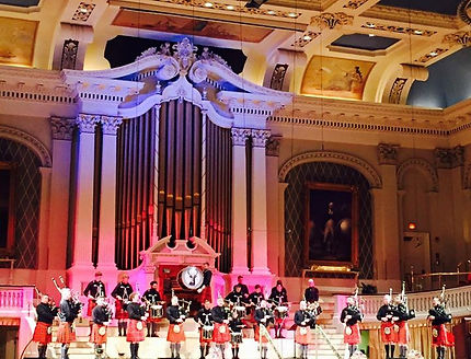 Mechanics Hall bagpipes Burns Supper Worcester Massachusetts Worcester Kiltie Pipe Band
