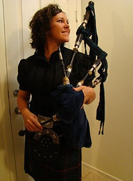 Coreyanne Armstrong bagpiper
