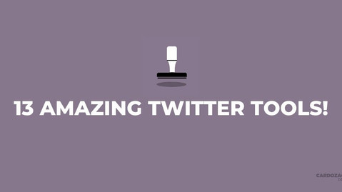 13 Twitter Tools You Should Try!