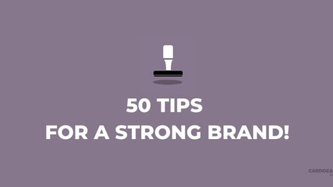 50 Tips For A Strong Personal Brand!
