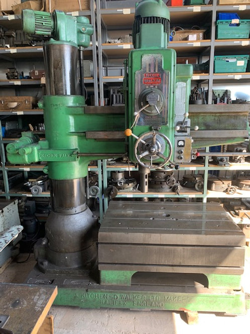 KITCHEN & WALKER E-2, 4 FOOT 6 INCH RADIAL ARM DRILL