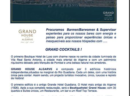 Novo projecto no Algarve. Proposta de emprego para Barman/Barmaid e Supervisor