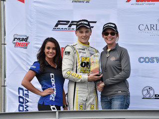 Frederick Claims his First USF2000 Career Podium Finishes at Barber Motorsports Park