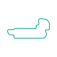 Indy Road Course teal track map