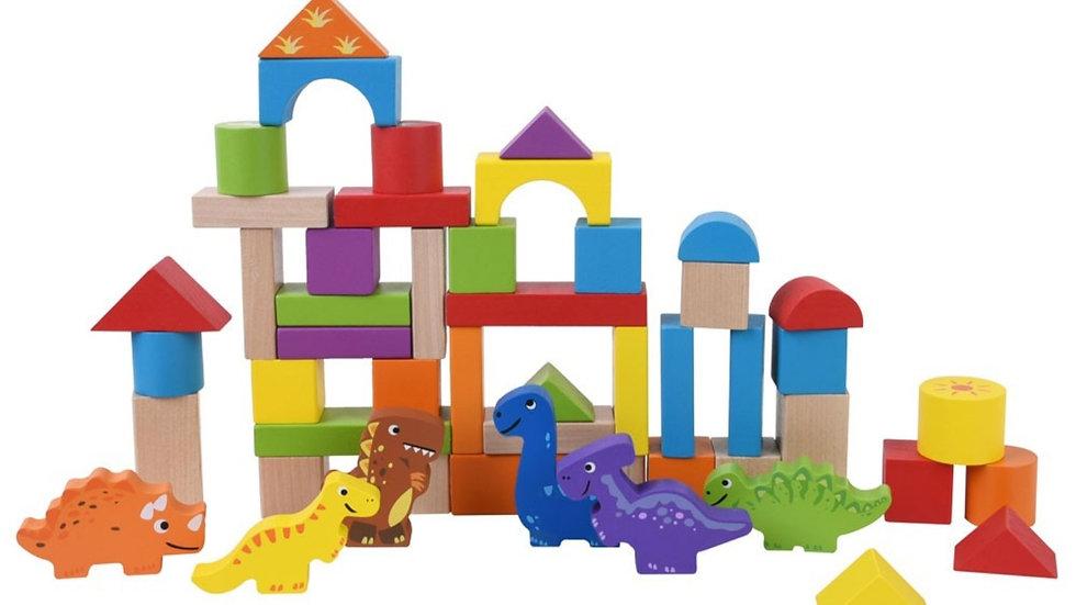 Wooden  Dinosaur Building blocks