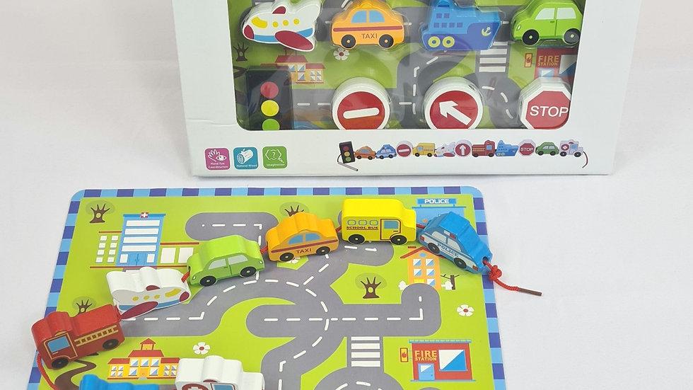 Traffic Lacing Game