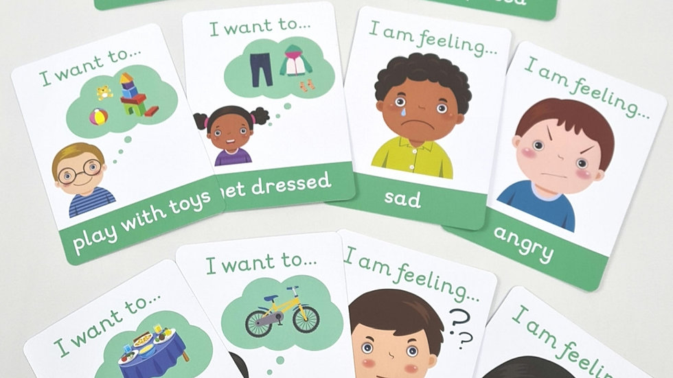 My Little Learner Emotions Flashcards