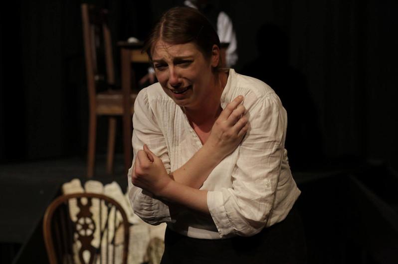 Emily breaks down in tears