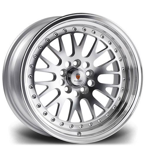 Stuttgart ST5 15x8J 4x100 alloy wheels Polished silver