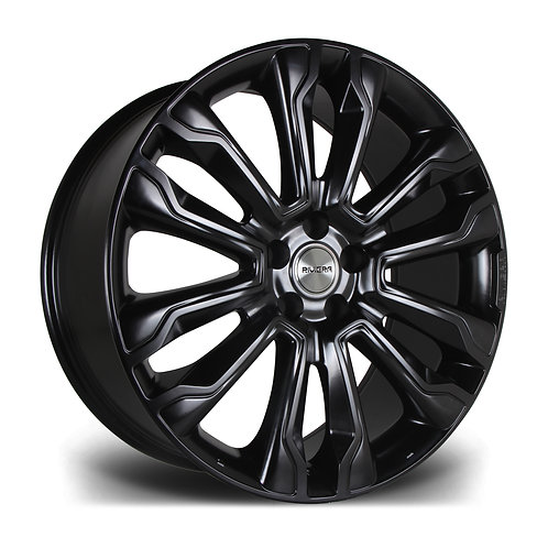 "Riviera RV124  22"" 5x120 alloy wheels finished in satin black"