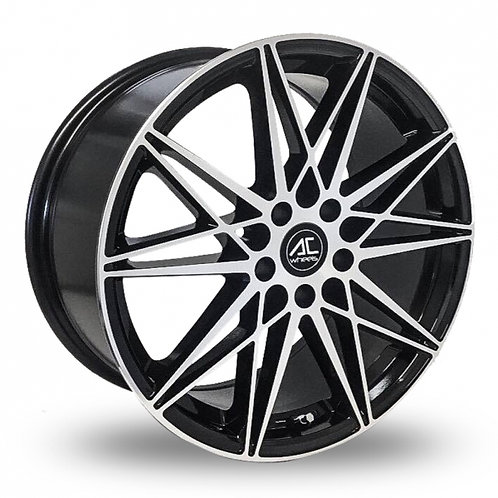 """Ac wheels Huira polished black 18"""" alloy wheels"""