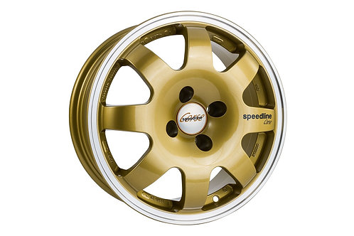 Speedline SL675 15x6.5J 4x100 finished in polished gold