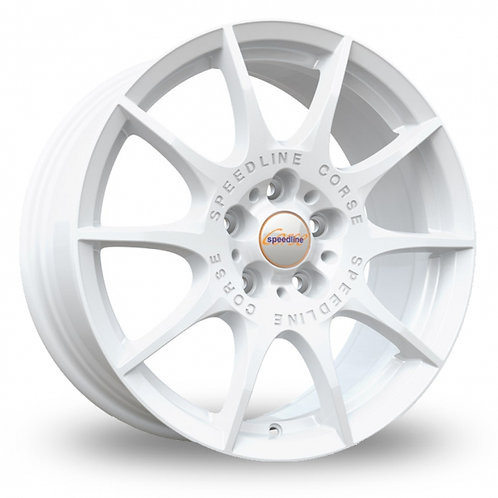 "Speedline Mamora 18"" alloy wheels finished in white"