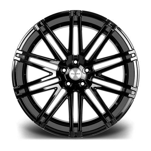 "Riviera RV120 22x10.5J"" alloy wheels finished in gloss black"