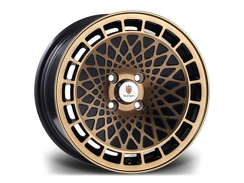 Stuttgart ST7 15x8J 4x100 alloy wheels machined silver or bronze
