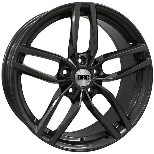 DRC DRS 18X8J ALLOY WHEELS FINISHED IN GUNMETAL OR SILVER