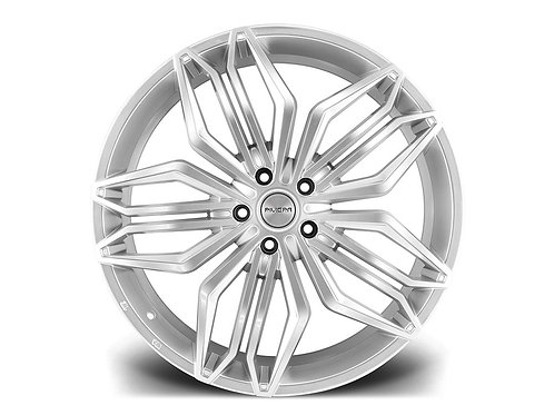 "Riviera RV180  22"" 5x120 alloy wheels finished in hyper silver"