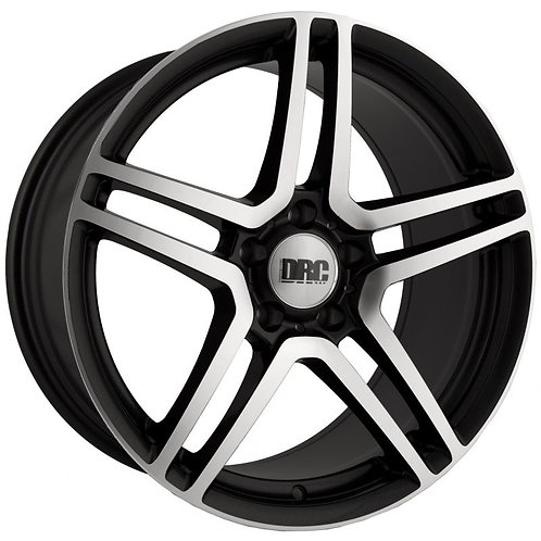 "DRC DMG 18"" ALLOY WHEELS POLISHED BLACK / POLISHED GUNMETAL / SILVER"