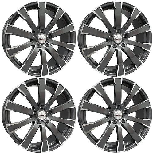 Calibre Manhatton 20x8.5J 5x120 alloys wheels (black polished face)