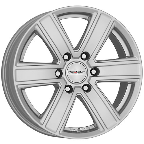 Dezent TJ 6 spoke alloy wheels finished in silver
