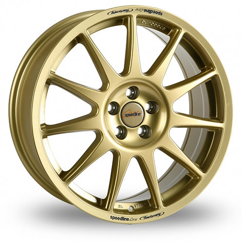"Speedline Turini 18"" alloy wheels finished in gold"