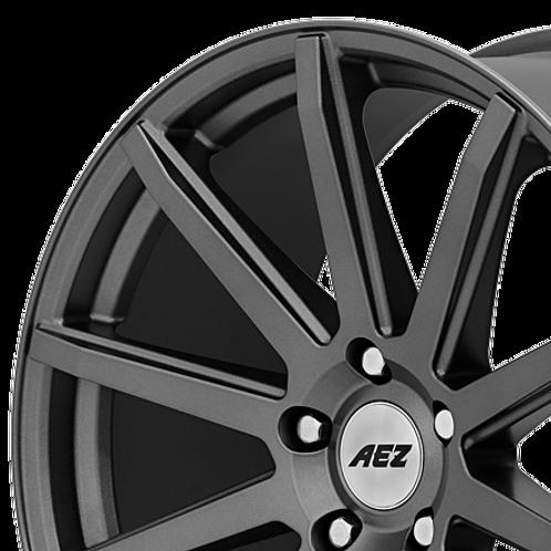AEZ Straight dark 17x7.5J 5x112 alloy wheels finished in graphite grey