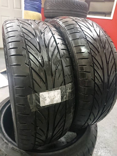 2 x Matching Hankook 195/50/15 tyres with 5mm tread free fitting and balancing