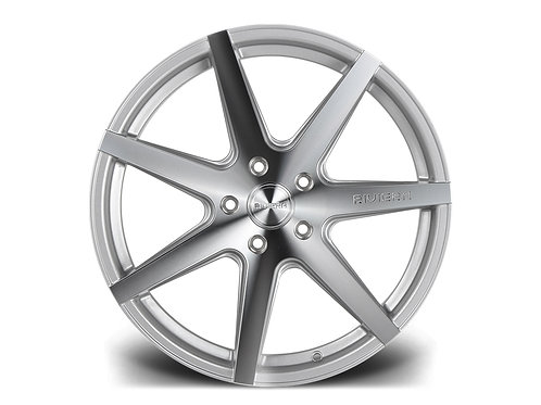 "Riviera RV177 19x8.5J"" alloy wheels finished in polished silver"