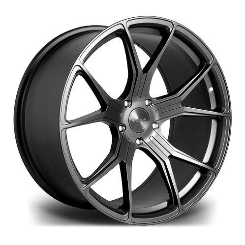 Riviera RV192 18x8 alloy wheels finished in satin gunmetal