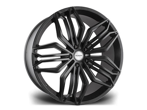 """Riviera RV180 22"""" 5x120 alloy wheels finished in machined gloss black"""