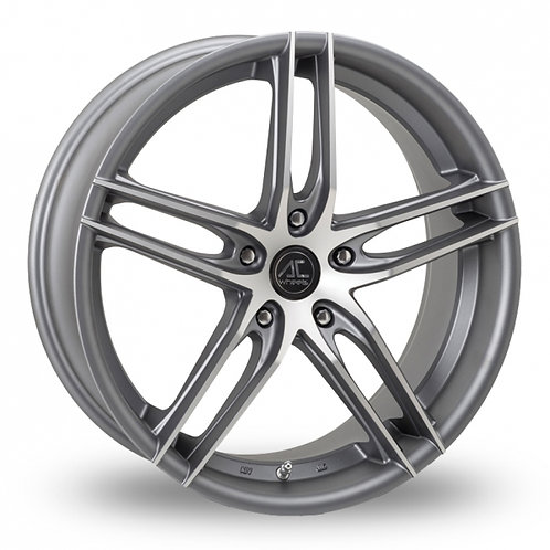 """Ac wheels shot grey polished 18"""" alloy wheels"""