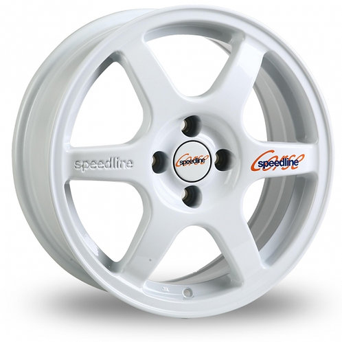 "Speedline Comp 2 16"" alloy wheels finished in white"
