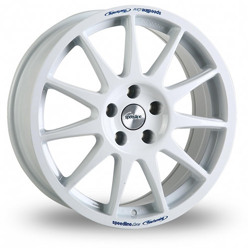 "Speedline Turini 15"" alloy wheels finished in white"