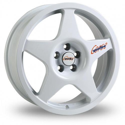 "Speedline Challenge 17"" alloy wheels finished in white"